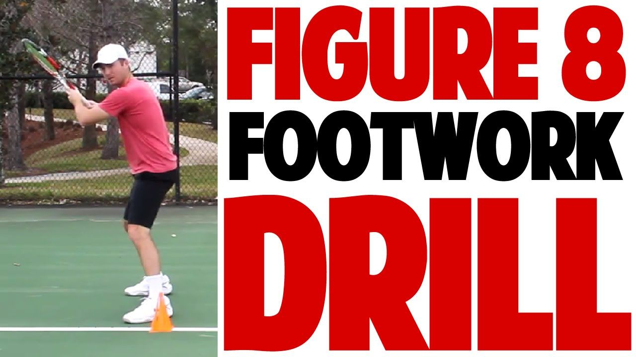 Tennis Forehand Figure 8 Footwork Drill Top Speed Tennis Tennis Forehand Tennis Drills Tennis