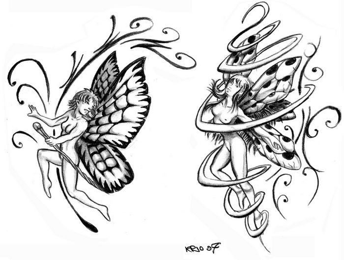 Fairy Tattoo Designs Drawings - Tattoo Designs Pattern ...