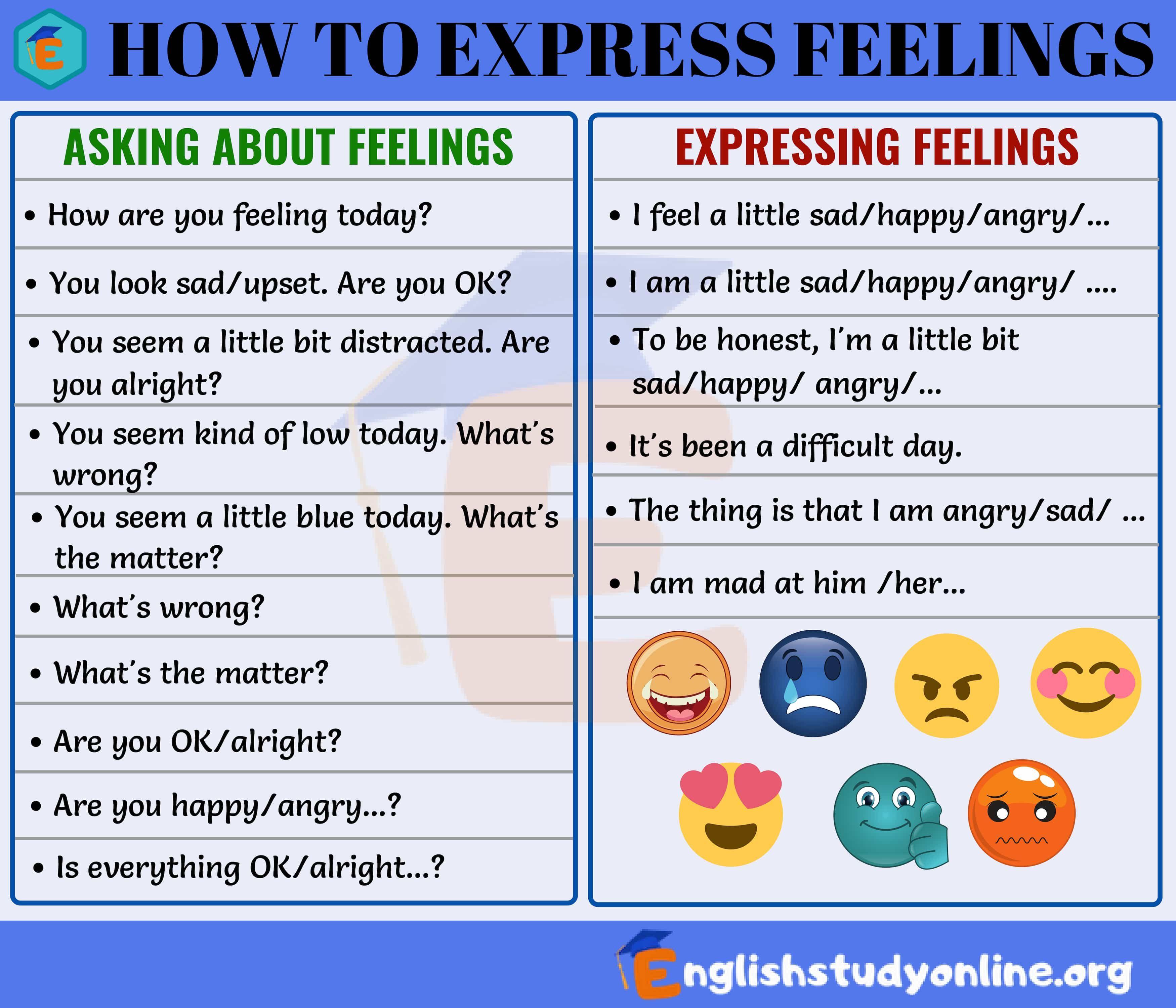 How to Express Feelings | How to express feelings