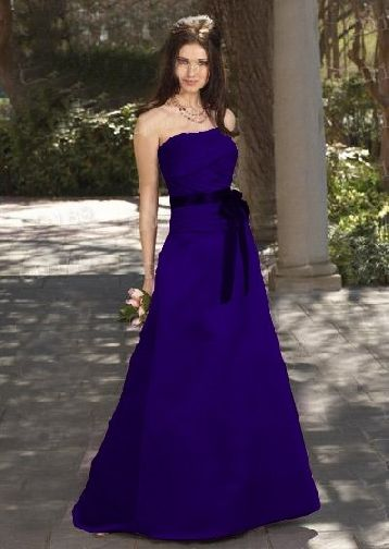 Dark Blue Bridesmaid Dresses Maybe With An Orange Or Magenta