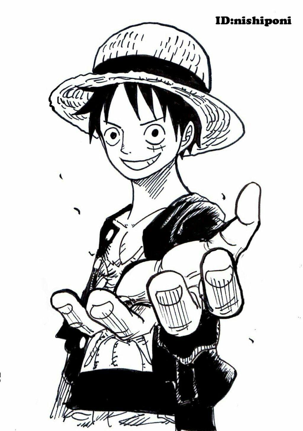 Gambar Doodle One Piece Medsos Kini