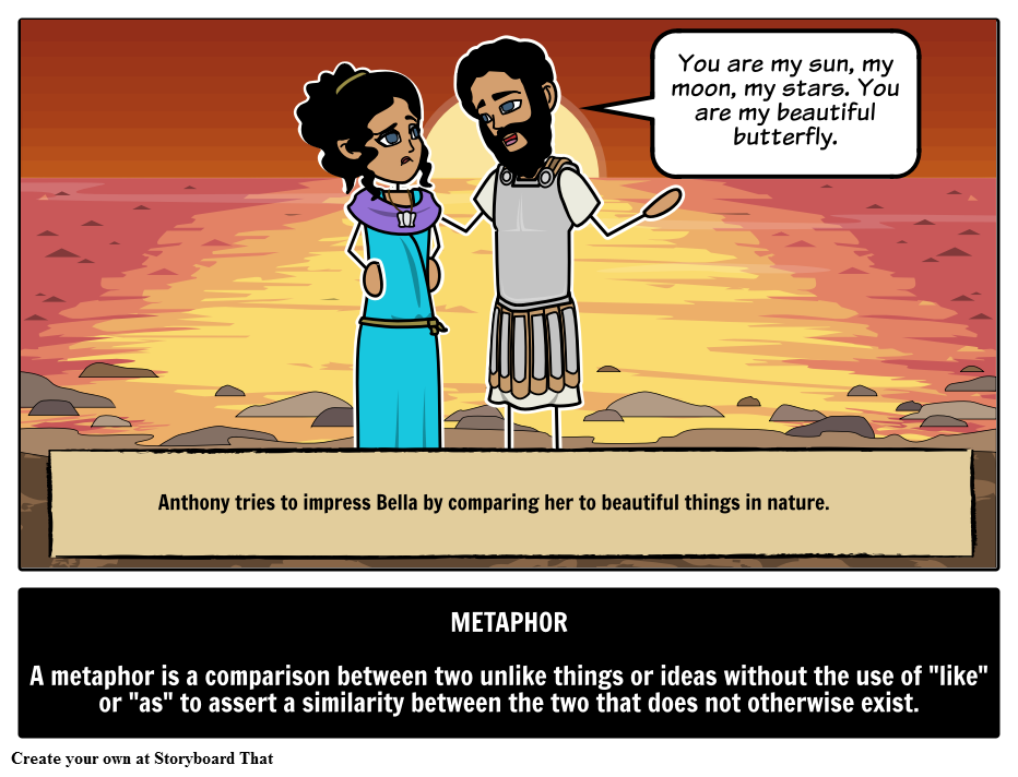 Define Metaphor With Storyboards Learn Metaphor Definition Meaning