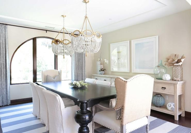 20 Of The Most Beautiful Dining Room Chandeliers | Black dining ...