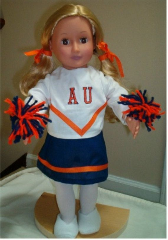 American Girl Cheerleading Outfit Auburn University for 18 inch doll #18inchcheerleaderclothes