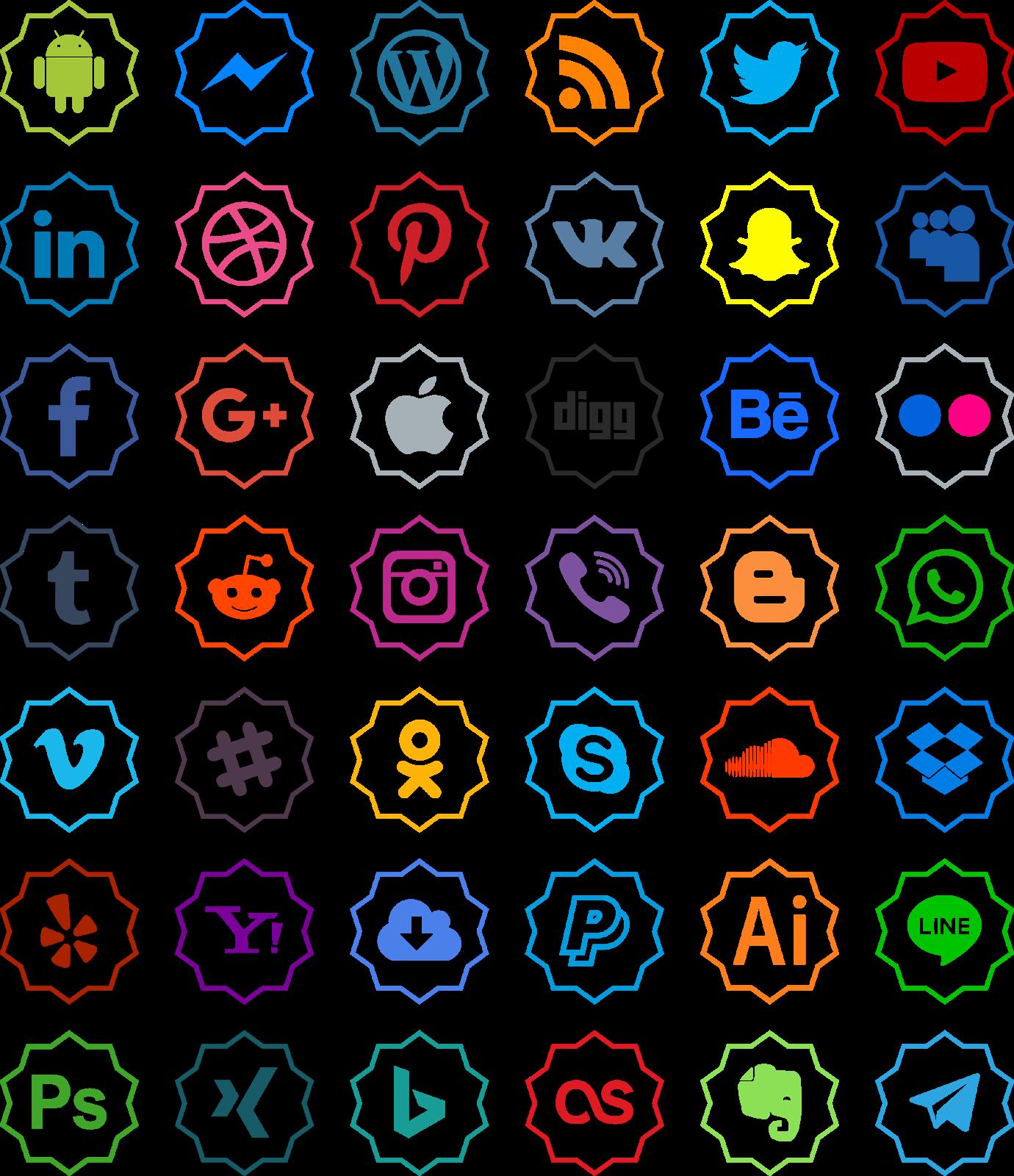 تحميل أيقونات مواقع التواصل الاجتماعي مجانا Psd Png Vector Icons Photo Illustration Logo Icons