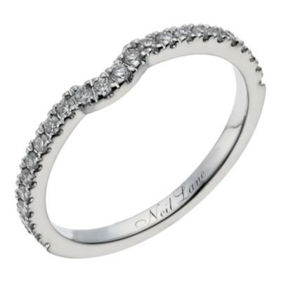 Neil Lane 14ct white gold 1/4 carat diamond shaped ring - Ernest Jones