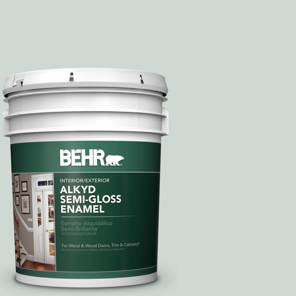 Behr alkyd semi-gloss enamel paint