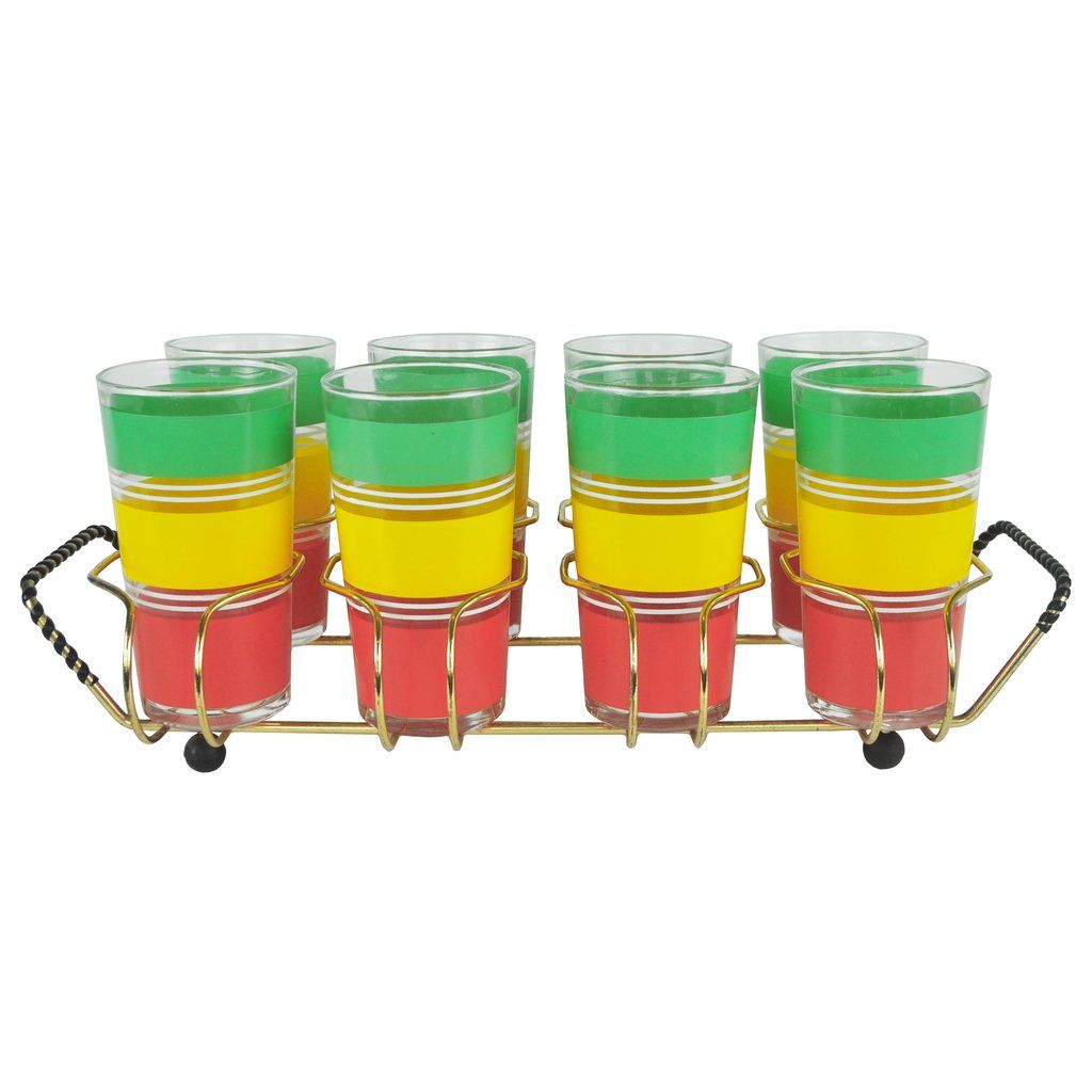 Red Yellow & Green Glass Caddy in 2019 | Glorious Vintage ...