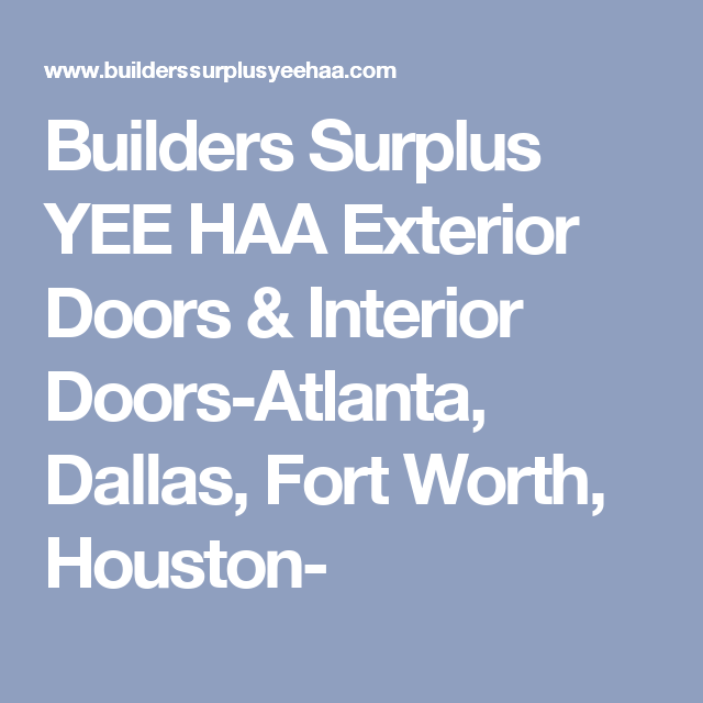 Builders surplus yee haa exterior doors interior doors atlanta builders surplus yee haa exterior doors interior doors atlanta dallas fort worth eventshaper