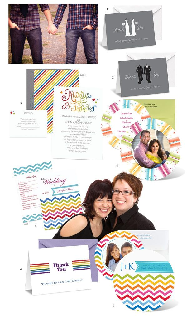 Ideas for commitment ceremony invitations and same sex union