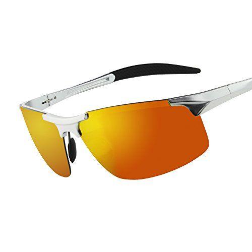 5dcf210ea2 Duco Gafas de sol deportivas polarizadas para hombre con ultraligero y  marco de metal irrompible