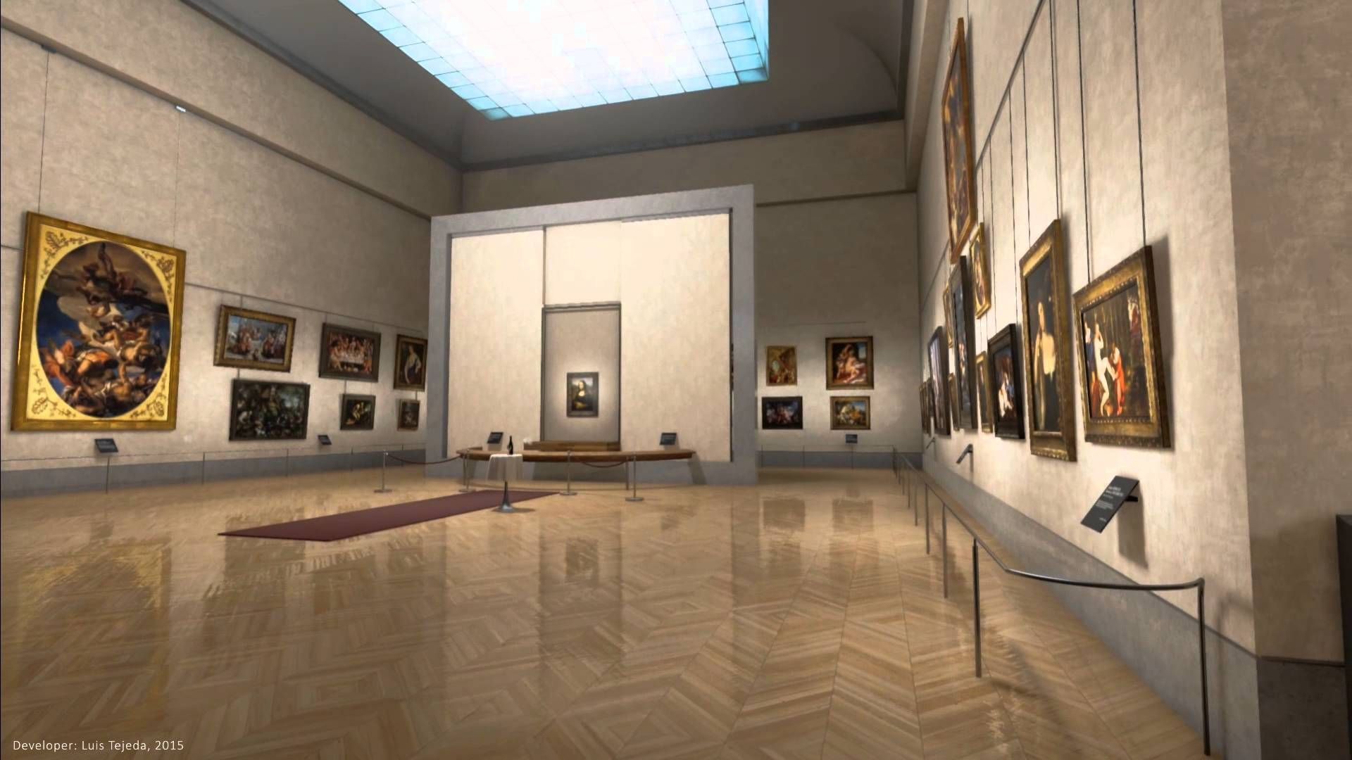 Mona Lisa Room Virtual Reality - Unreal Engine Demo & Oculus