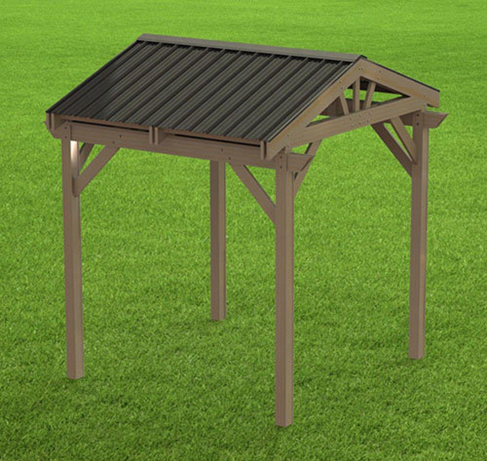 Gable Steel Roof Gazebo Building Plans 10 X 10 Etsy In 2021 Hot Tub Gazebo Gazebo Plans Grill Gazebo