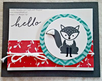 A Little Foxy Hello using Stampin' Up! Foxy Friends Photopolymer Stamp Set
