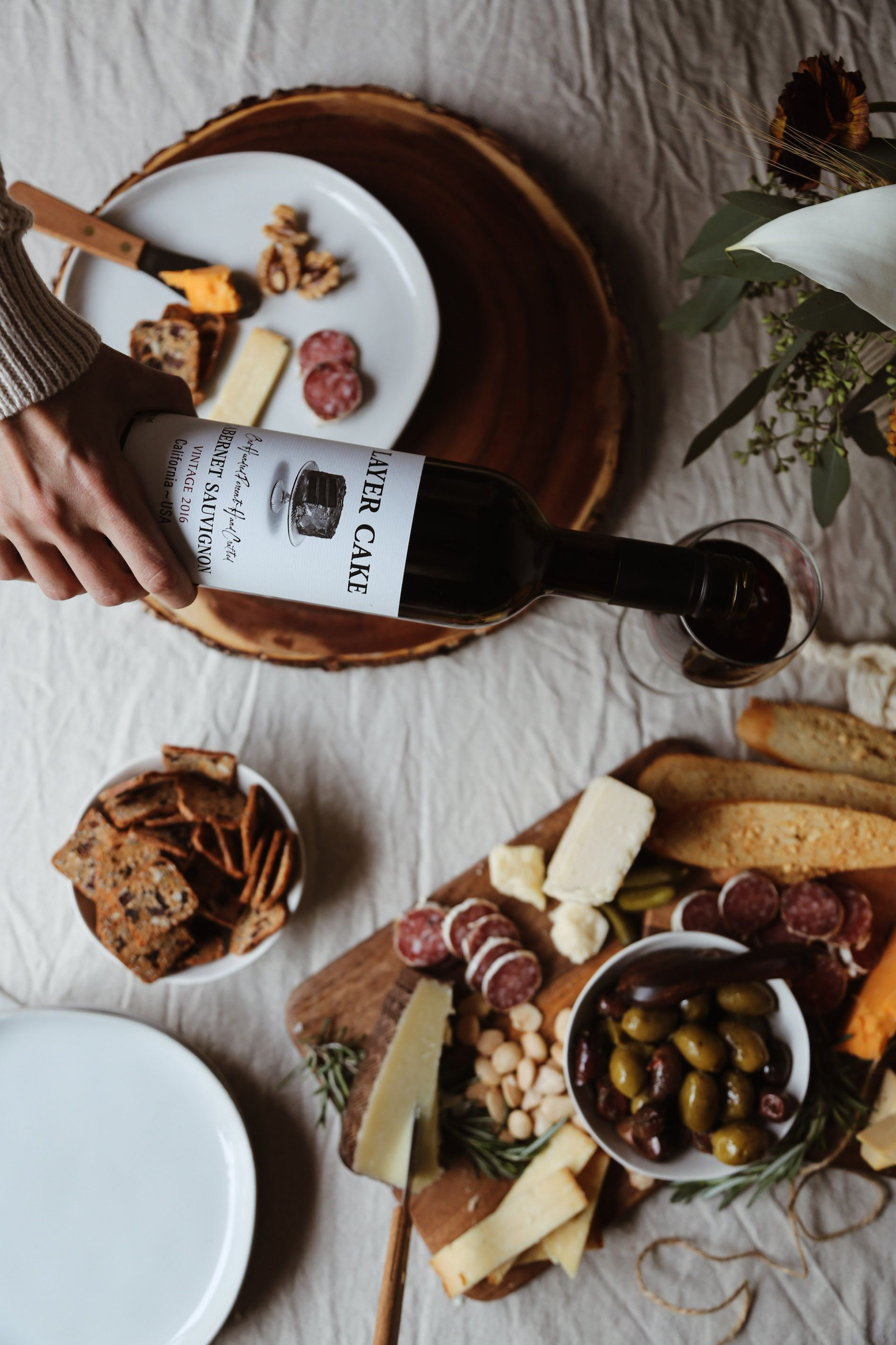 A fall wine cheese tasting party in 2020 with images