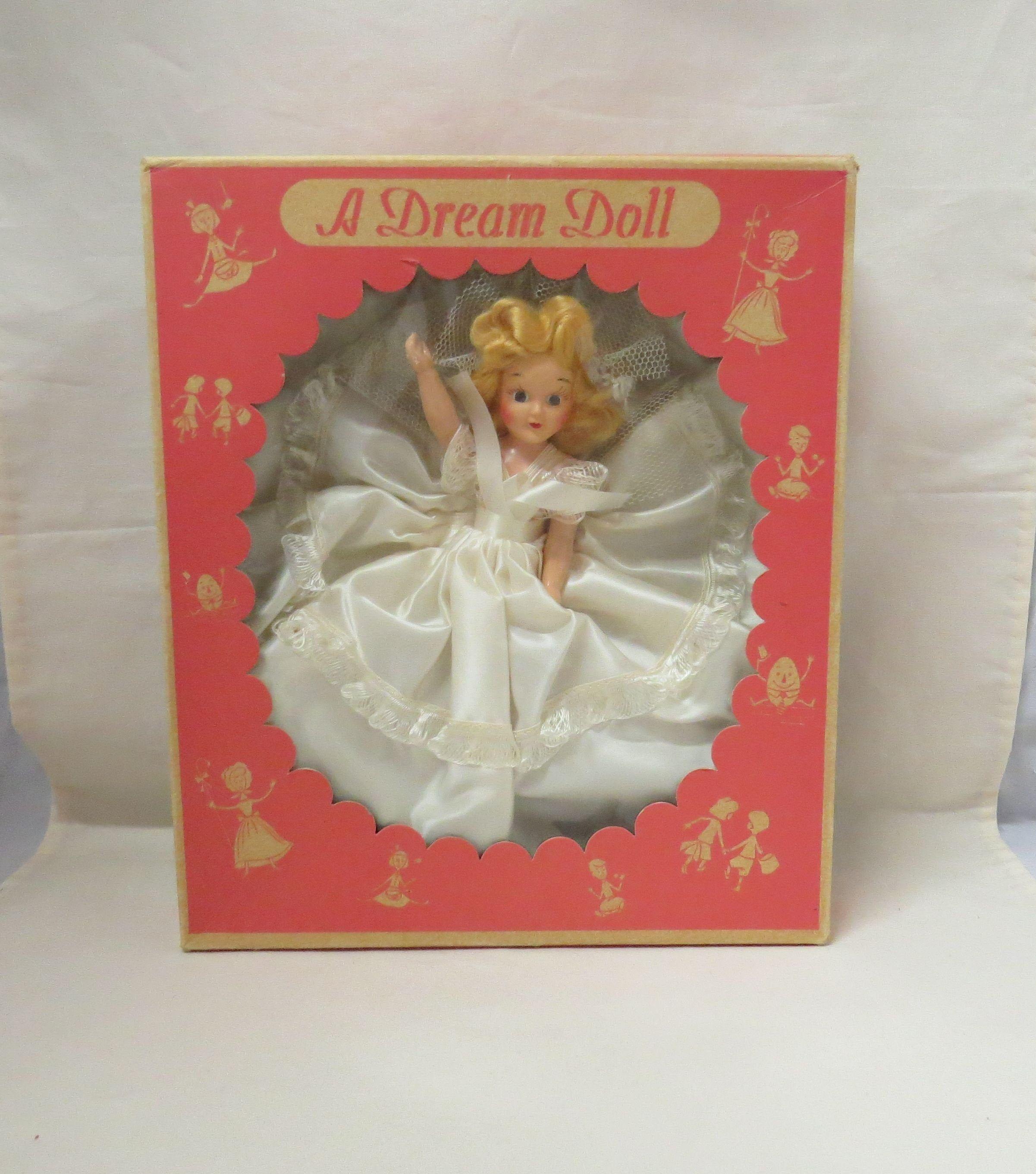 Vintage MINT IN BOX Bride Doll A Dream Doll Sleepy Eye Doll Bed Doll In Box A Modern Product #bridedolls