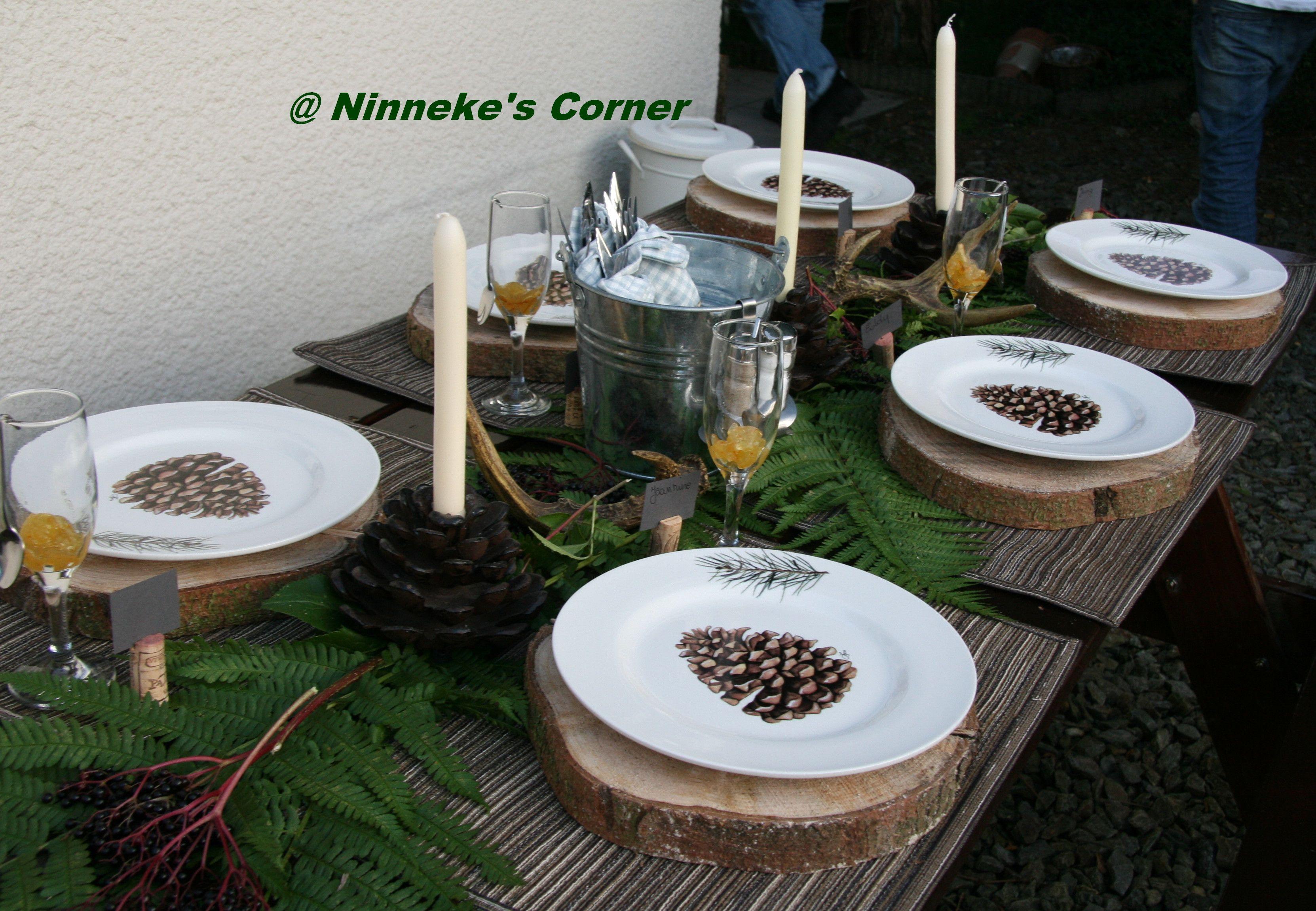 Uit de natuur gegrepen onderborden van schijven boomstam tafel