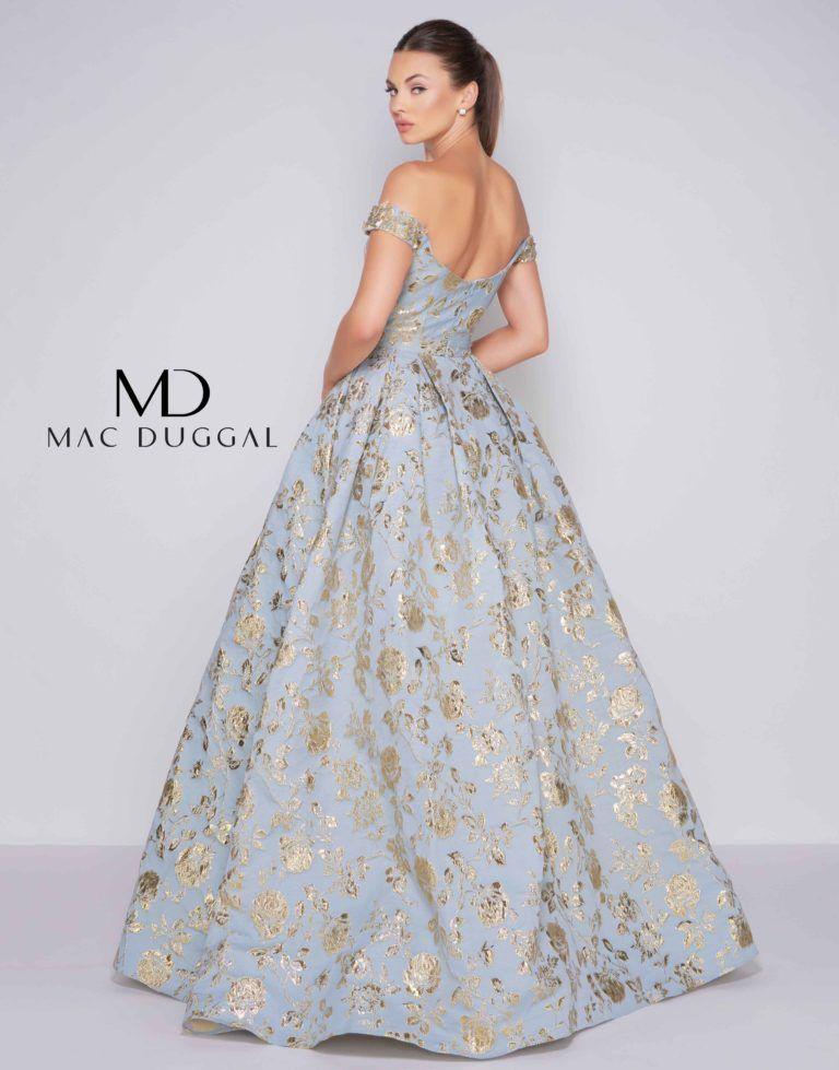 1dc84b2c7c2 40893H Golden Blue Ball Gown - back