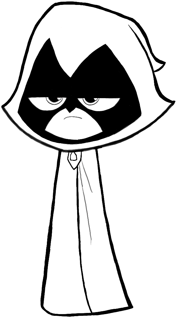 How to Draw Raven from Teen Titans Go With Easy Steps Drawing
