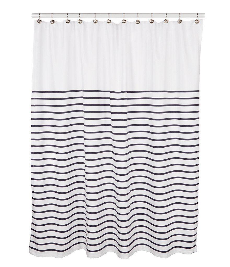 Navykate Spade New York Harbour Stripe Shower Curtain