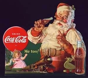 Christmas Coca Cola Santa Gifts Vintage Advert Retro Style Metal Sign Plaque