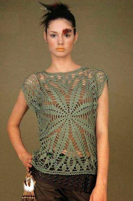 Blusa para dama A CROCHET - Imagui