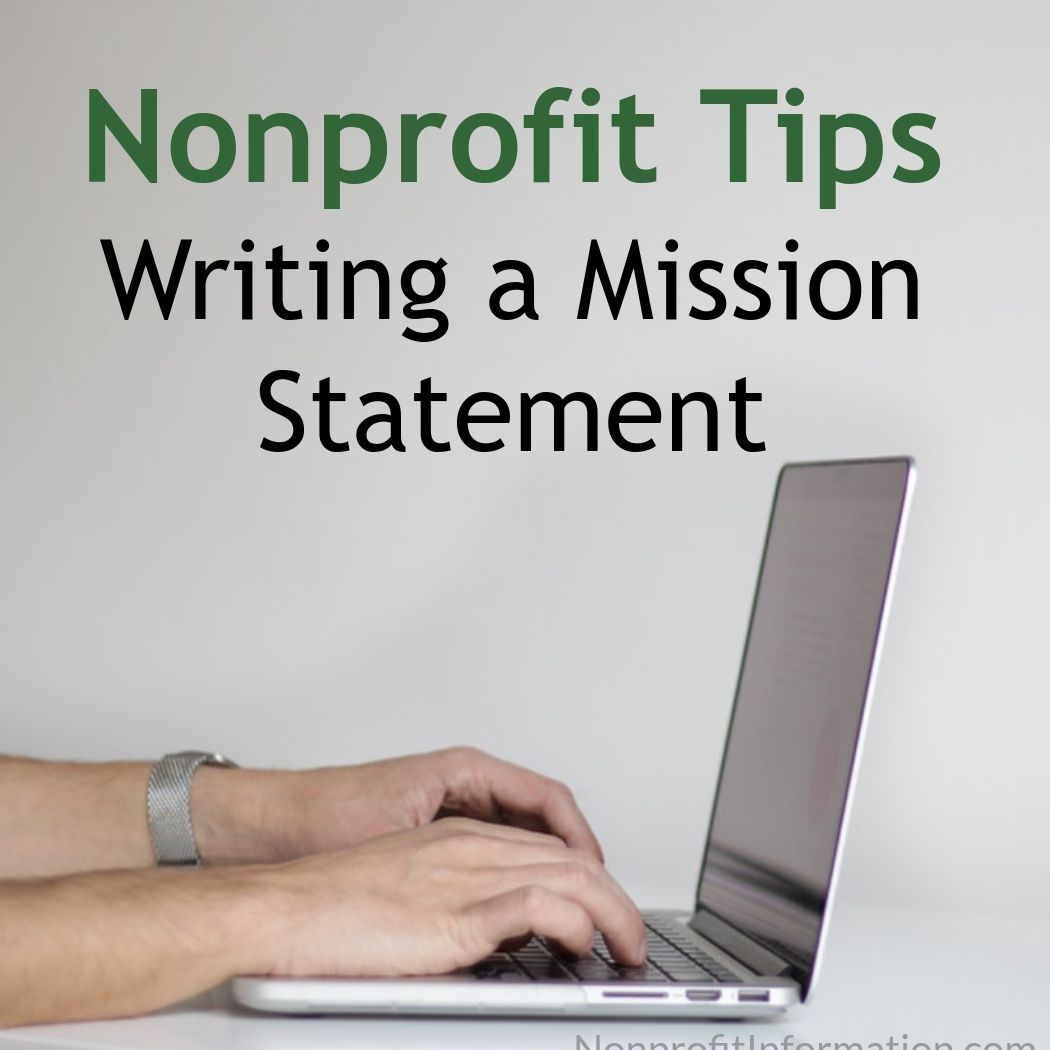 Writing a Mission Statement Tips Nonprofit Information