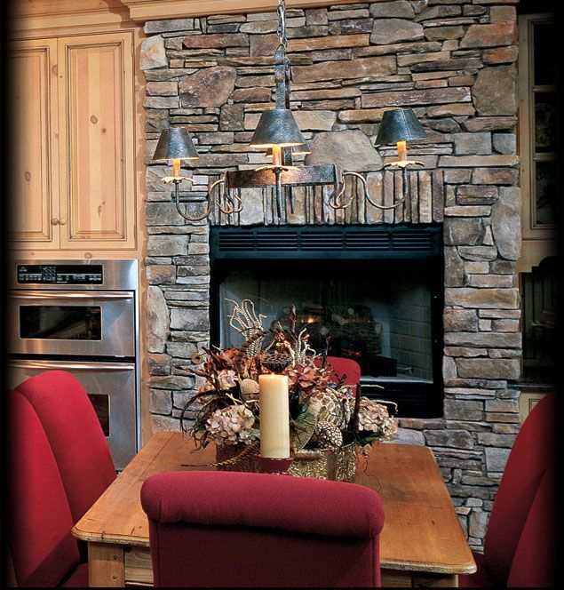 Interior Stone Wall Kitchen: Cultured Stone Bucks County Southern Ledgestone Kitchen Dining Room Fireplace Interior Stone