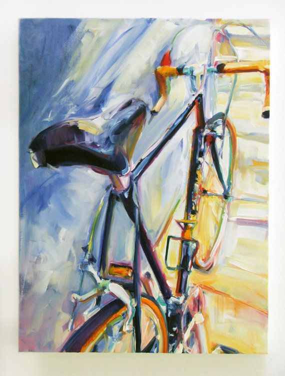 Title: Bicycle Series BY14041    Media: Oil on Canvas    Size: 24 x 18 inches    I decided to make paintings of bicycles this year. To create