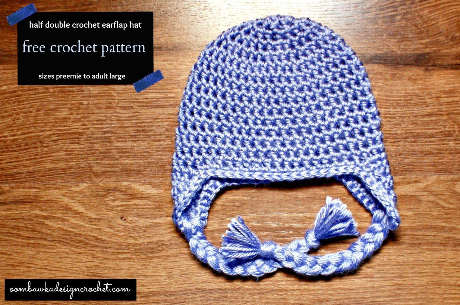 Simple Half Double Crochet Ear Flap Hat Free Pattern Get Crafty