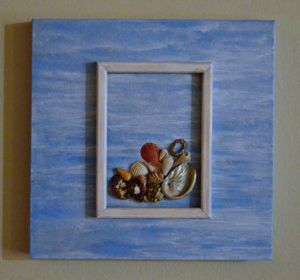 Recycled Crafts Blue Ocean Canvas Wall Art With Images Ocean
