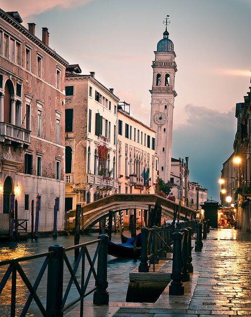 Venice, Veneto, Italy, most people don't think about the streets but the canals. The streets are the best!