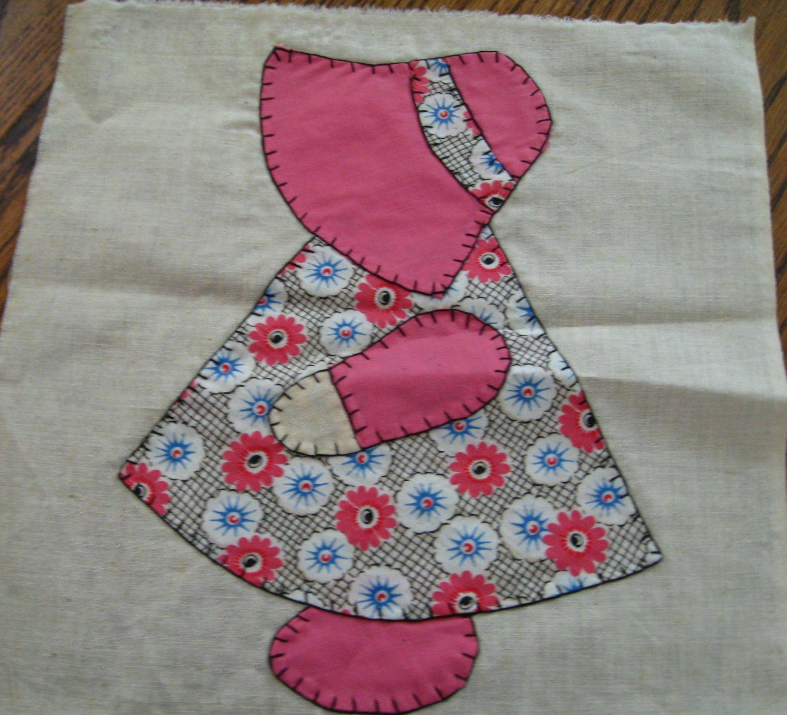 Vintage Sun Bonnet Sue Quilt Blocks Set of Ten w Extra'S | eBay ... : sunbonnet sue quilt blocks - Adamdwight.com