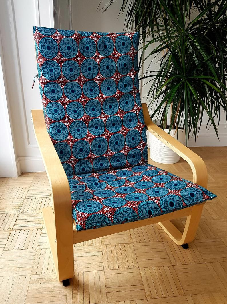 African wax print slipcover for IKEA armchair POANG Etsy