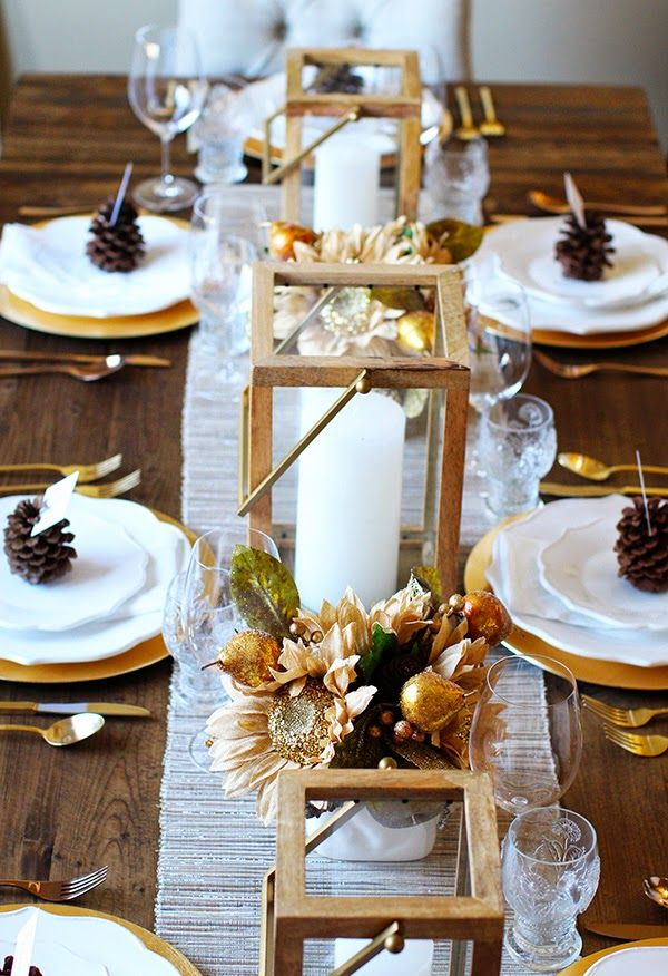 Happy Thanksgiving Fall Table Decor Happy Thanksgiving Table Decorations
