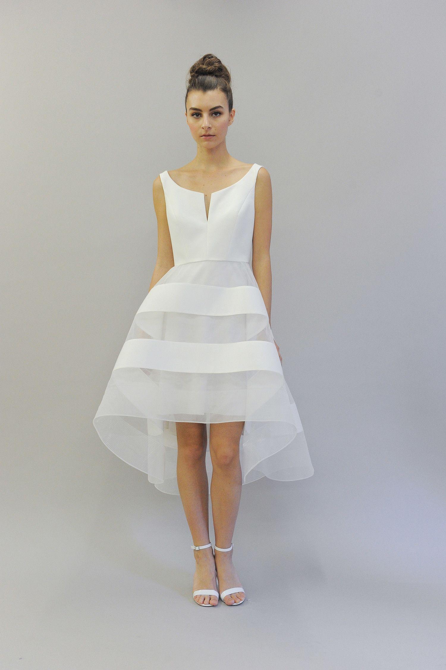 Chic Short Wedding Dresses Boat Neck Wedding Dress Short Wedding Dress Nontraditional Wedding Dress [ 2254 x 1500 Pixel ]