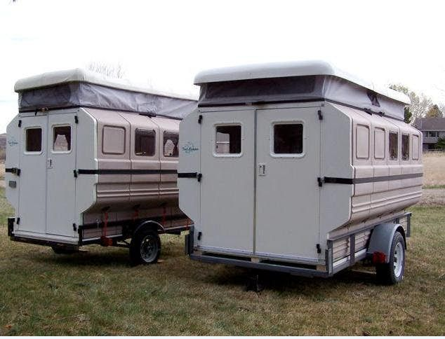 Teal Camper assembles and breaks down like a puzzle