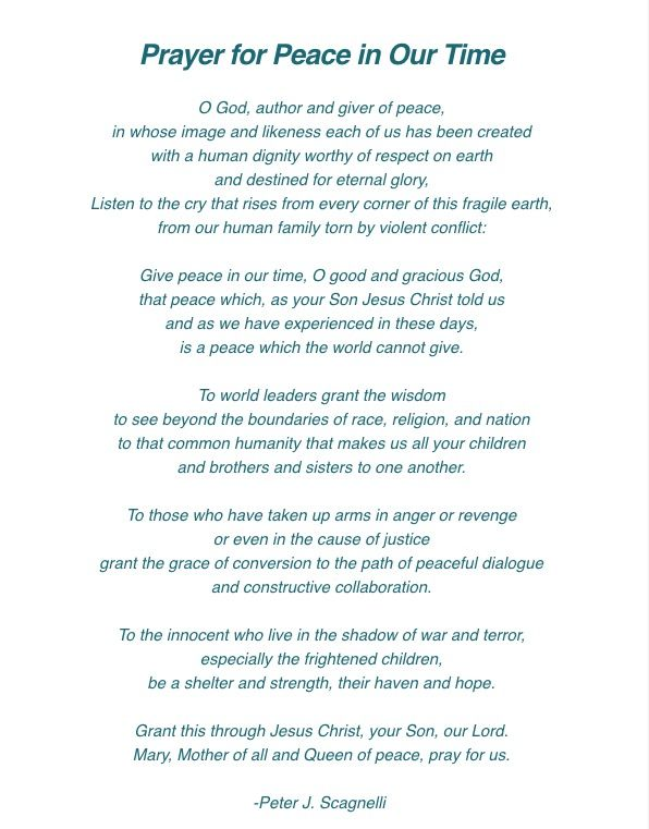 Prayer For Peace With Images Prayer For Peace Inspirational