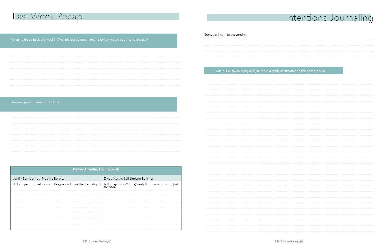 Ultimate Mindset Planner Downloadable With