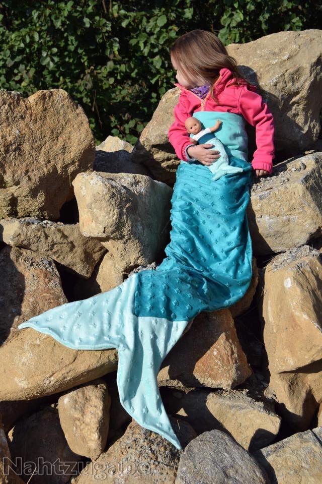 Meerjungfrauen-Decke, Meerjungfrau, Nähanleitung | Pinterest ...