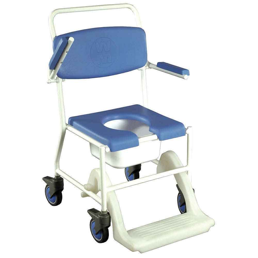 This integrated wheeled shower commode chair creates a safer option ...