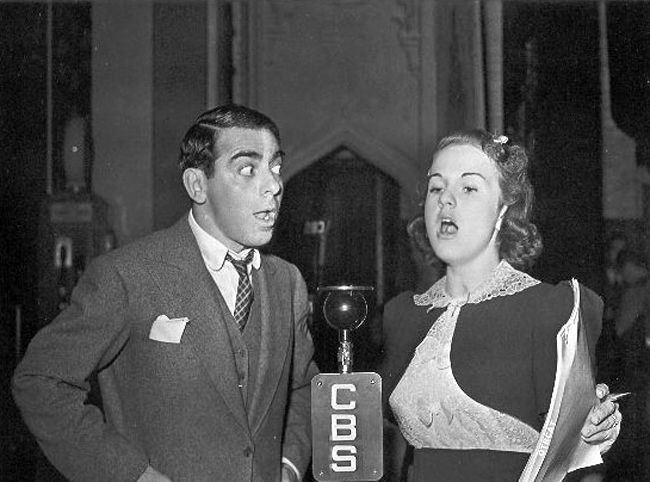 Deanna Durbin and Eddie Cantor