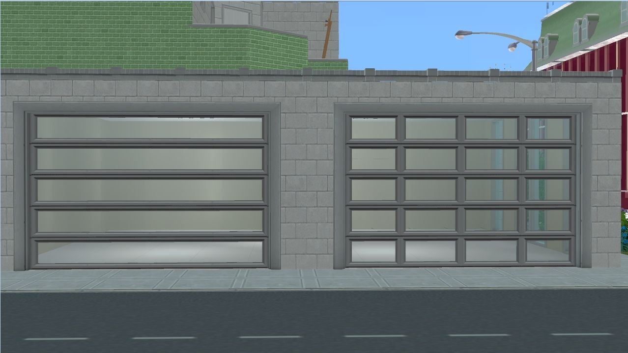Mod The Sims Ap Patio Garage Door Modern Garage Doors Garage Sims