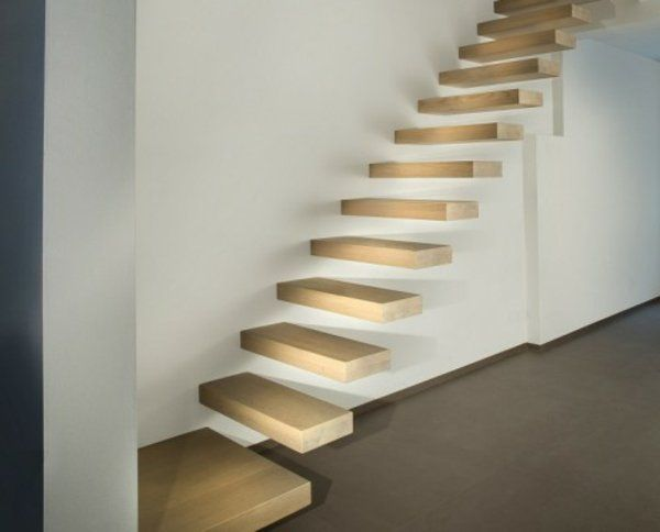 Free Floating Stairs With Glass Fence