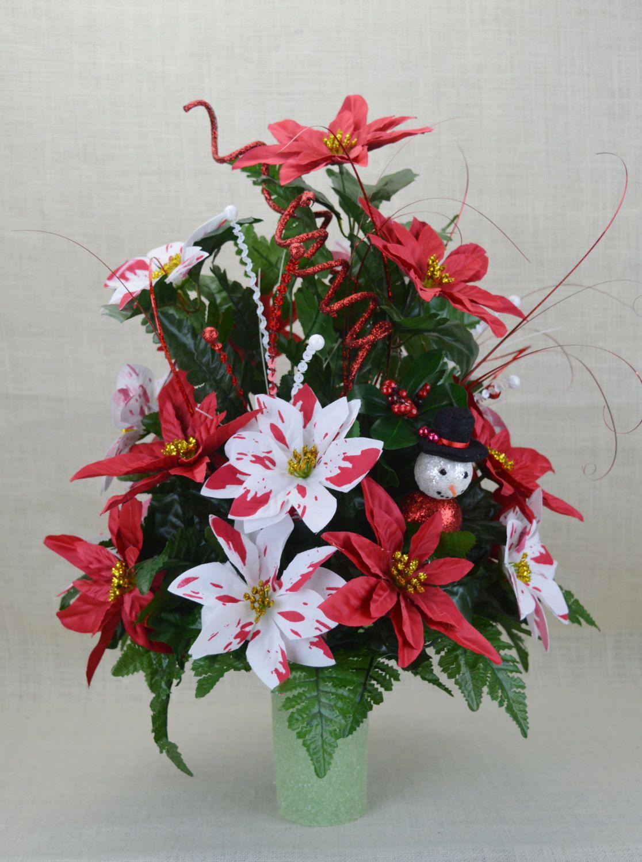 No cc010 holiday christmas silk flower cemetery cone vase cc010 holiday christmas silk flower cemetery cone vase arrangementtombstone saddle mightylinksfo Choice Image