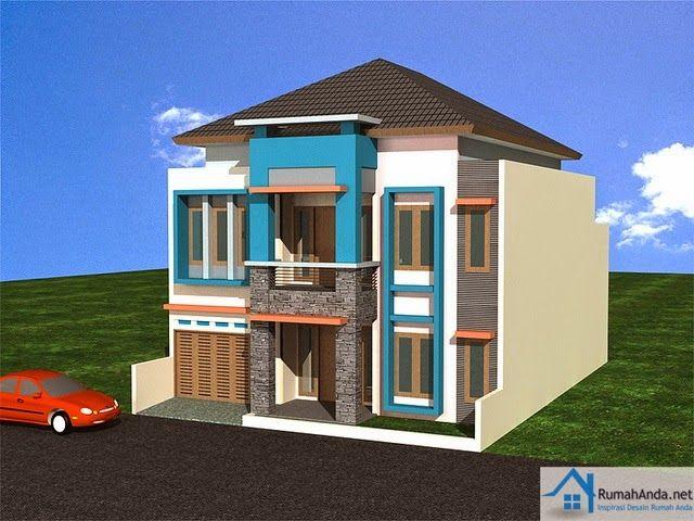 Gambar Model Rumah Minimalis Type 60 2 Lantai & Gambar Model Rumah Minimalis Type 60 2 Lantai | Design | Pinterest ...