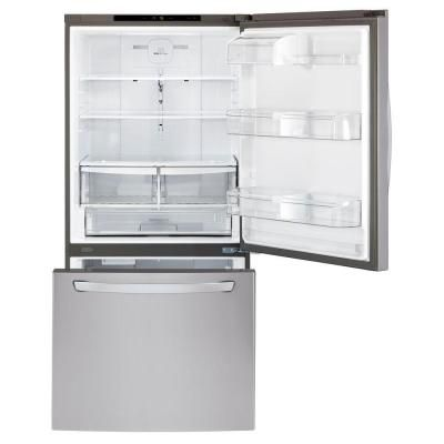 Lg Electronics 24 Cu Ft Bottom Freezer Refrigerator In Stainless