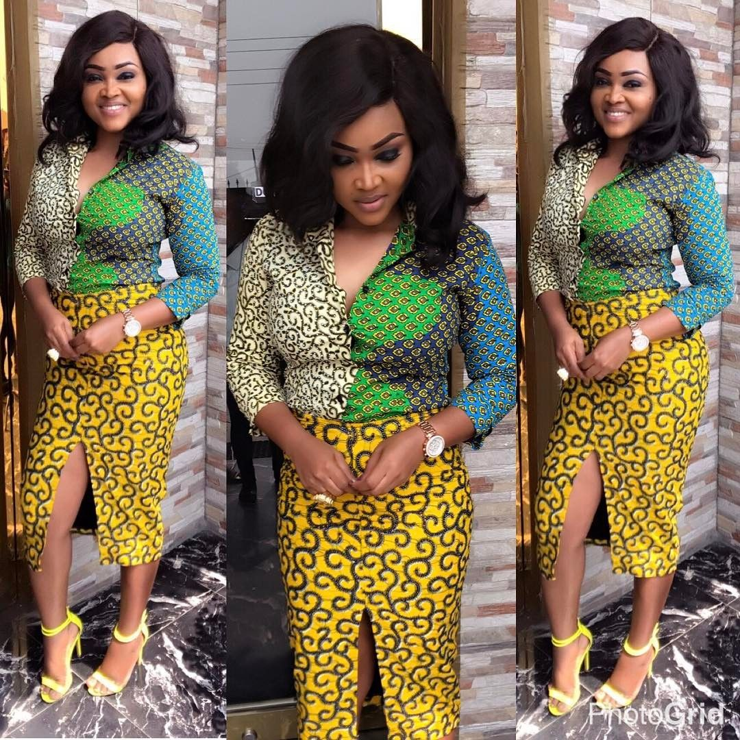See Mercy Aigbe Lovely Unique Ankara Styles Maboplus Things To