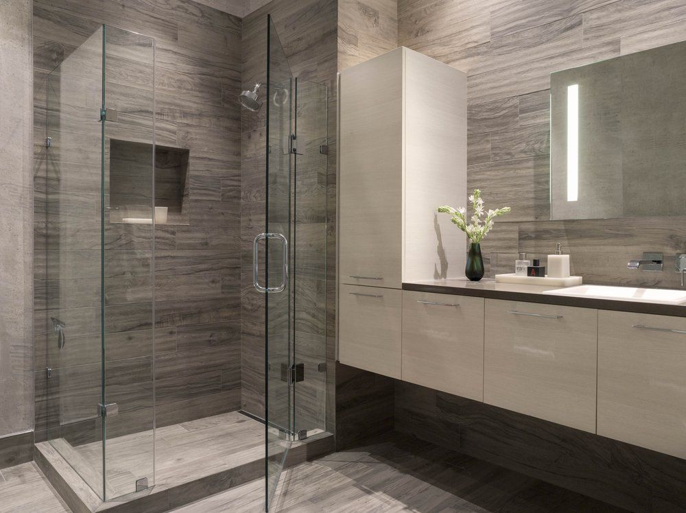 townsend modern bathroom san francisco ca gray white