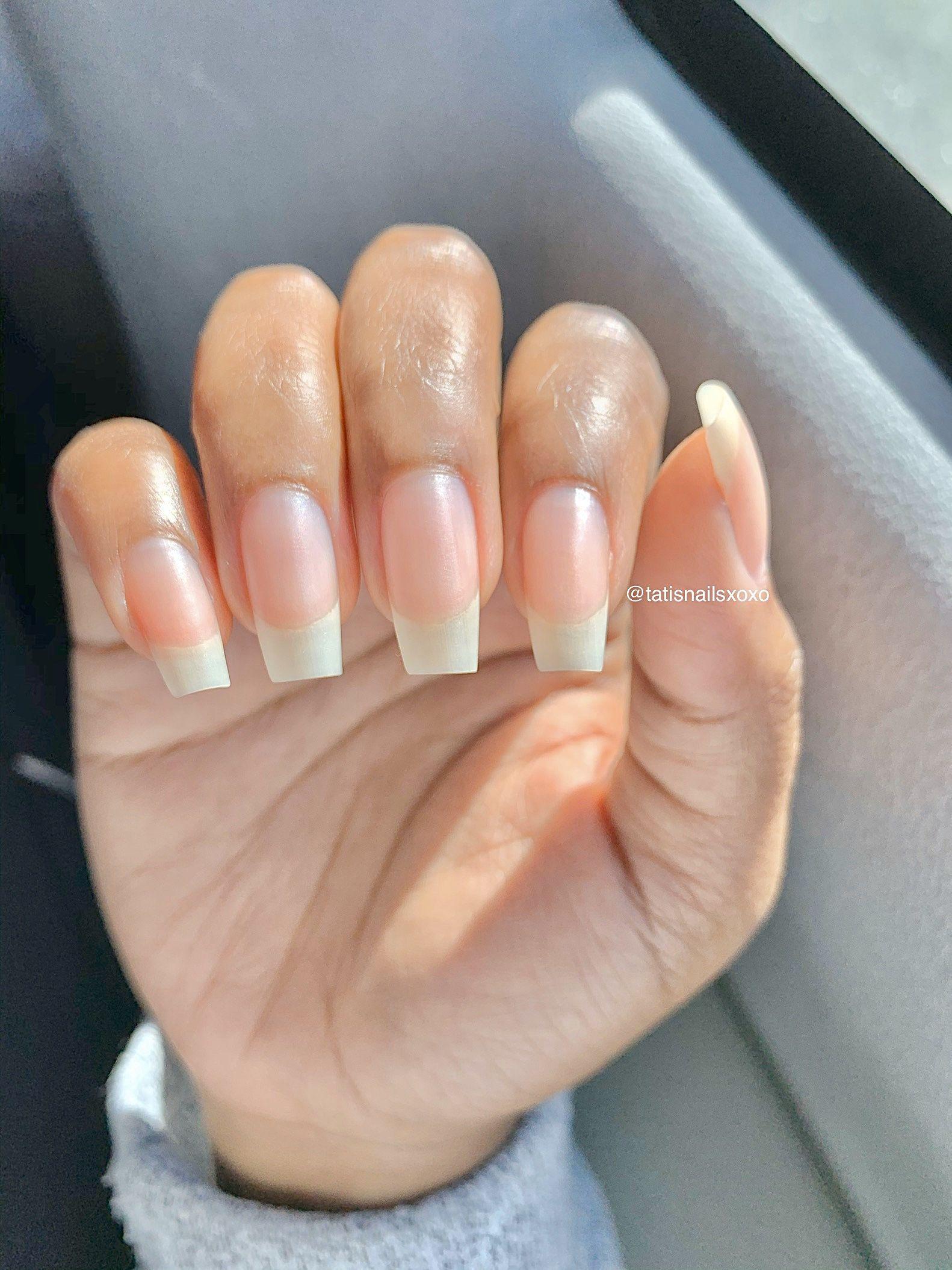 Natural Nails Ig Tatisnailsxoxo In 2020 Natural Nails Manicure Long Natural Nails Strong Nails